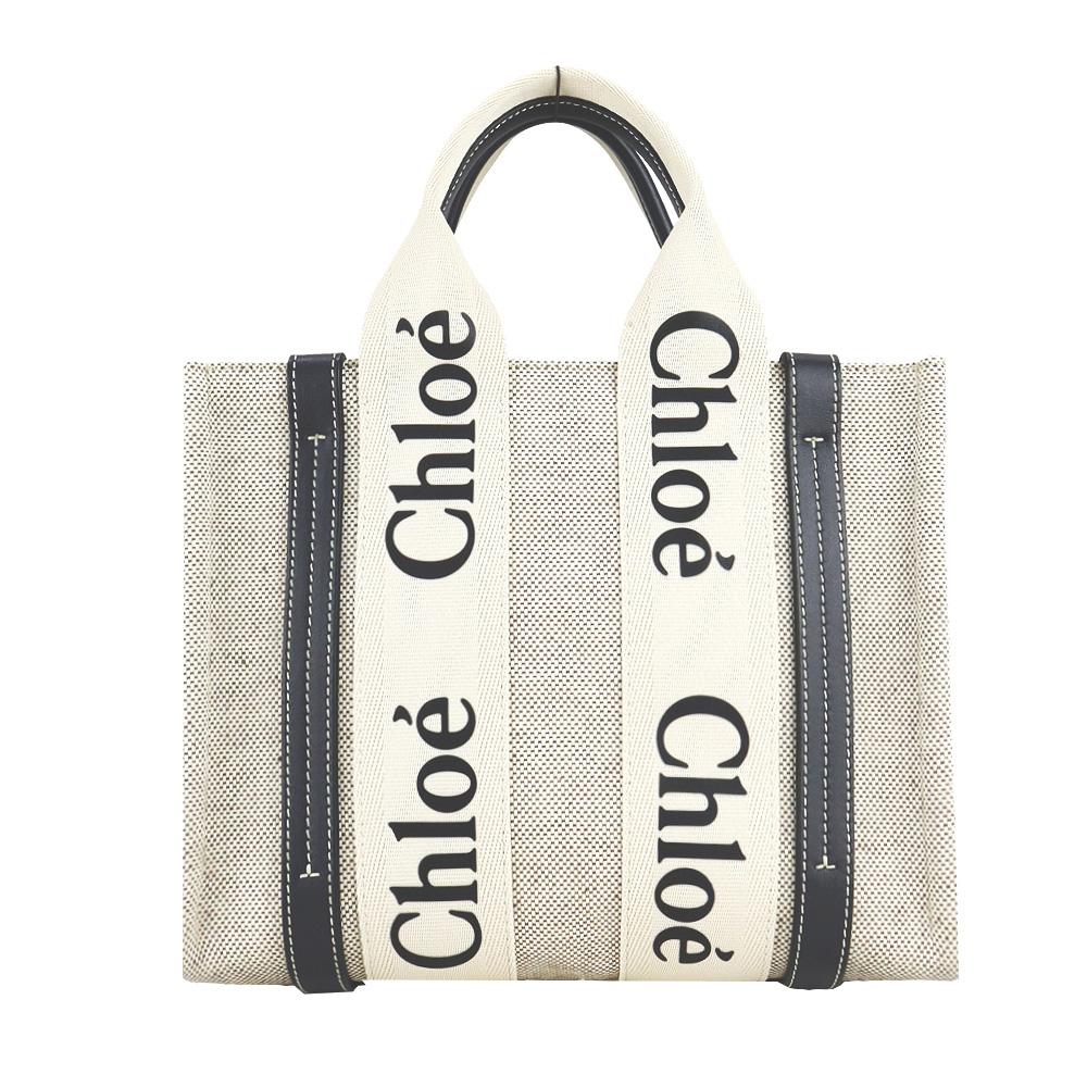 Chloe Woody tote bag帆布托特包(小號/海軍藍)