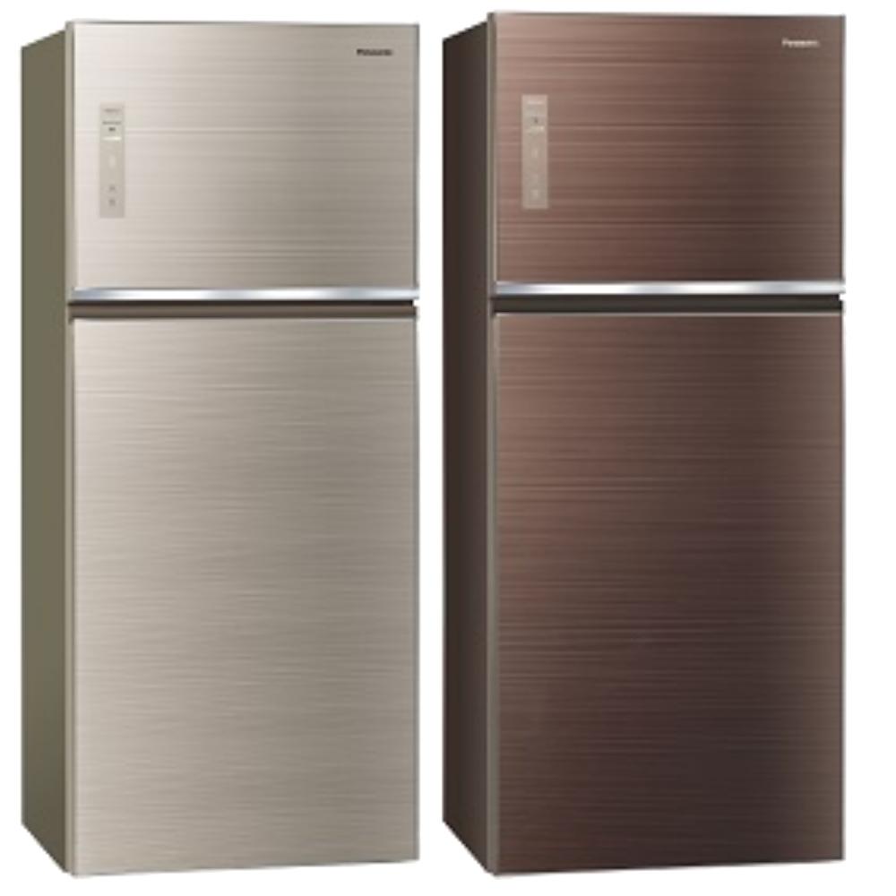 Panasonic國際牌變頻雙門電冰箱(玻璃面無邊框) 422公升 NR-B429TG-N/NR-B429TG-T