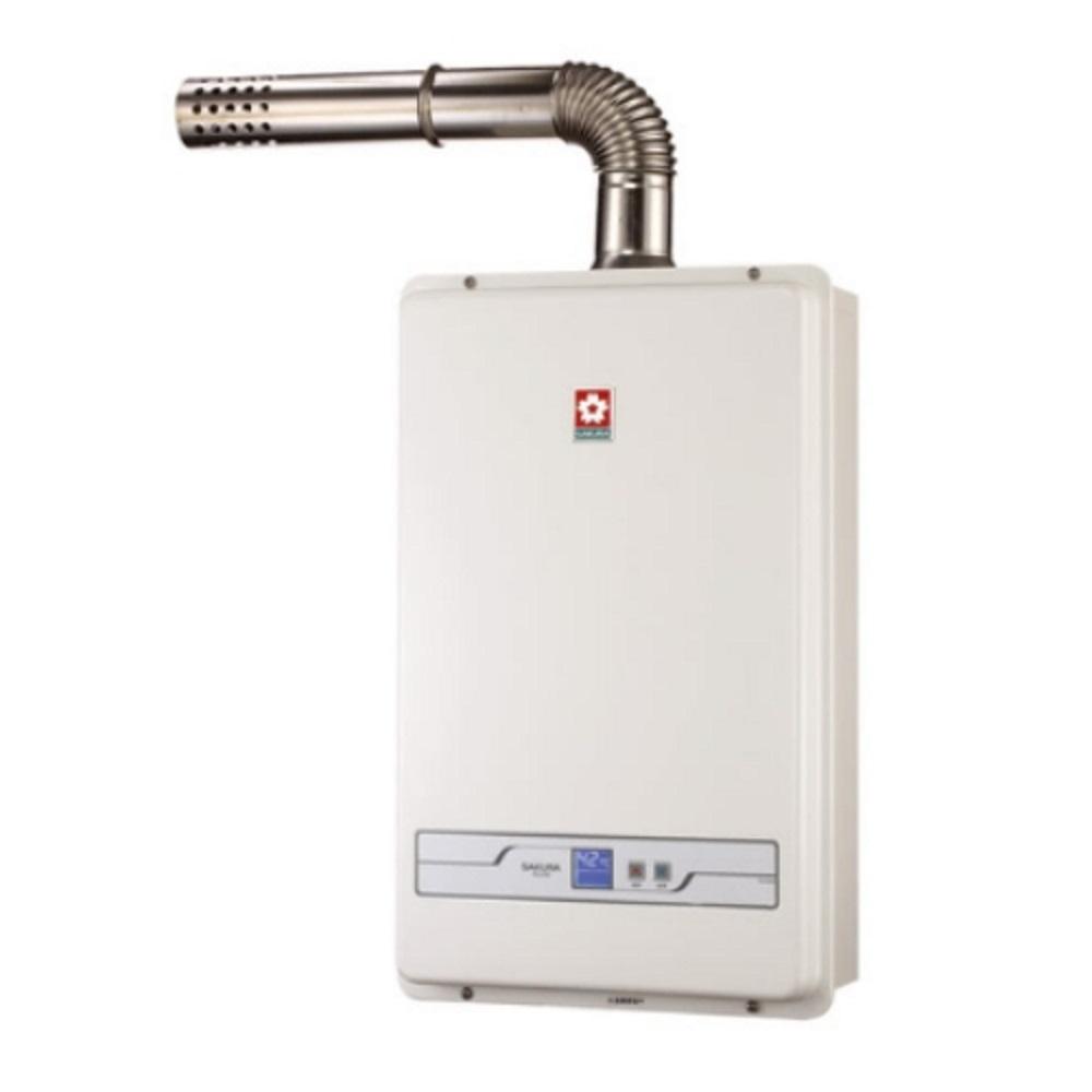 (全省安裝)櫻花13公升強制排氣熱水器H-1335數位式
