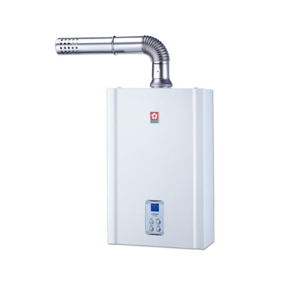 (全省安裝)櫻花16公升強制排氣熱水器SH-1635數位式 暫無天然氣機型
