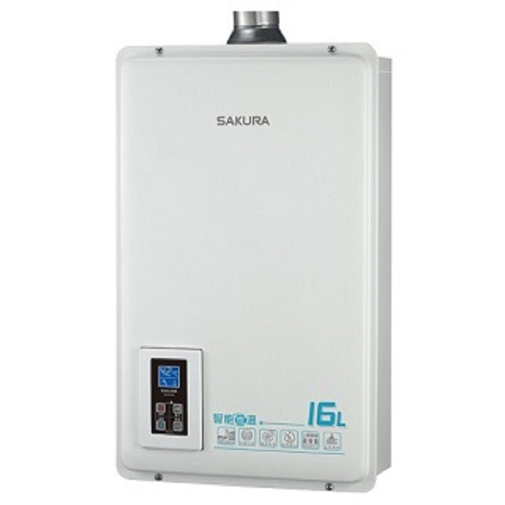 (全省安裝)櫻花16公升強制排氣熱水器DH-1670A數位式