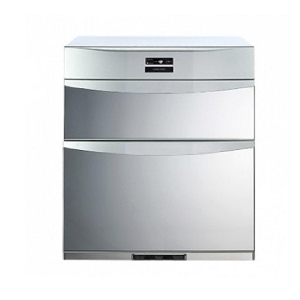 (全省安裝)櫻花落地式熱風循環臭氧殺菌高70cm烘碗機Q-7592BL銀色