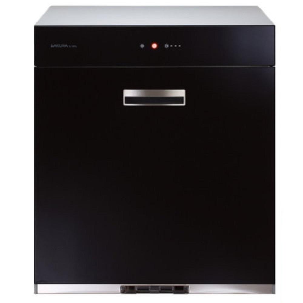 (全省安裝)櫻花落地式全平面玻璃觸控70cm烘碗機Q-7690L黑色