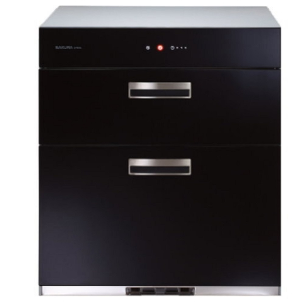 (全省安裝)櫻花落地式全平面玻璃觸控68cm烘碗機Q-7693黑色