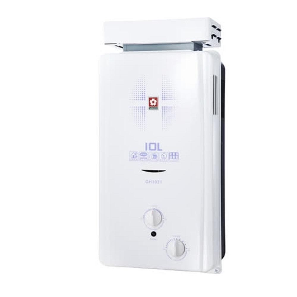 (含標準安裝)櫻花10公升抗風型ABS防空燒(與GH1021同款)熱水器ABS式GH-1021