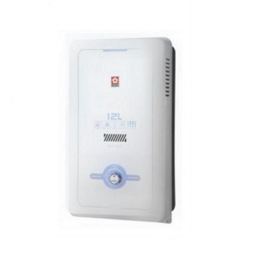 (含標準安裝)櫻花12公升(與GH1205同款)熱水器水盤式GH-1205