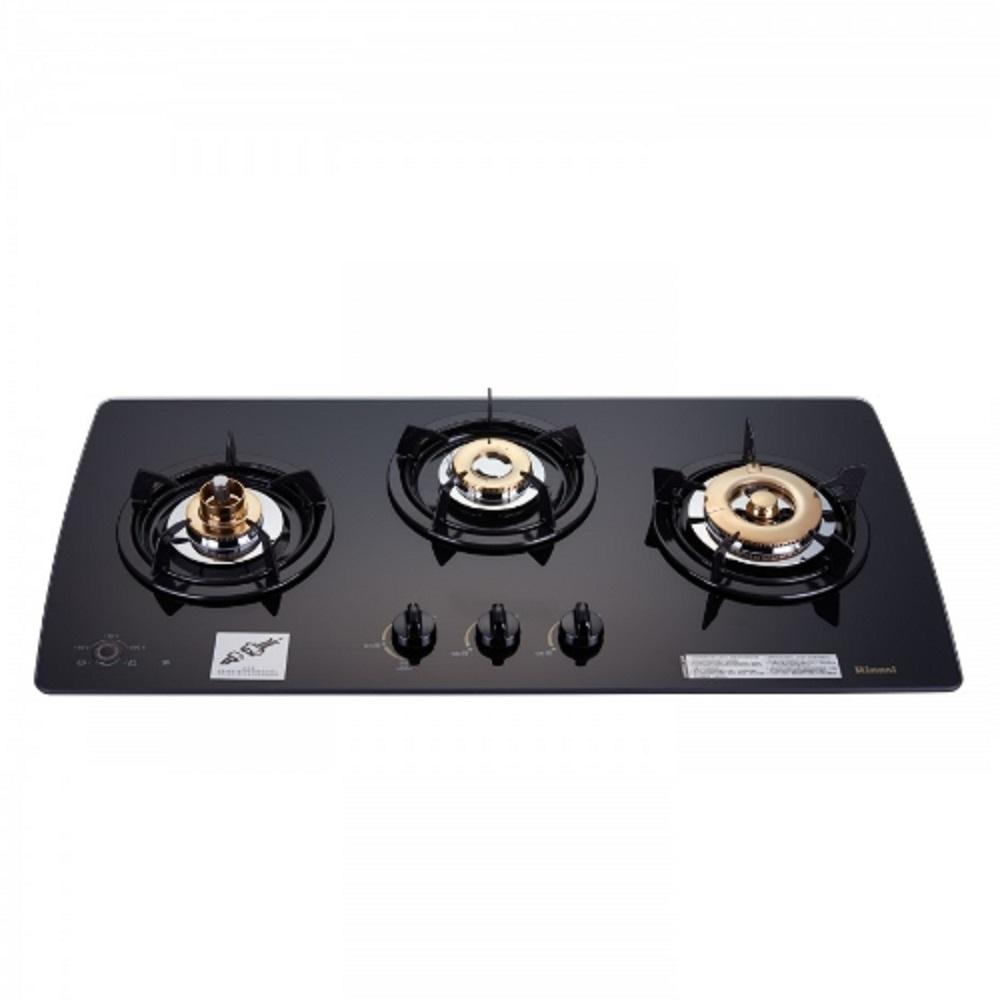 (全省安裝)林內 美食家三口檯面爐黑色與白色瓦斯爐 RB-3GMB
