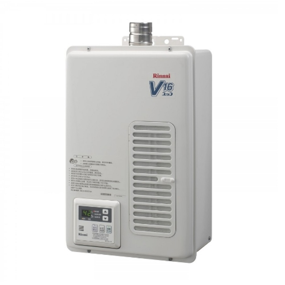 (全省安裝)林內 16公升屋內強制排氣熱水器【REU-V1611WFA-TR】