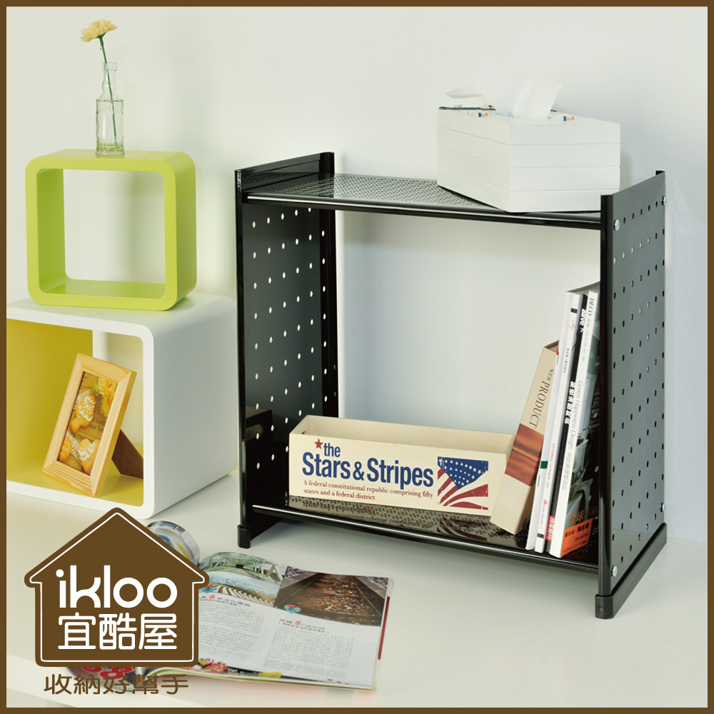 【ikloo】延伸式組合書櫃(雜誌版)兩入組