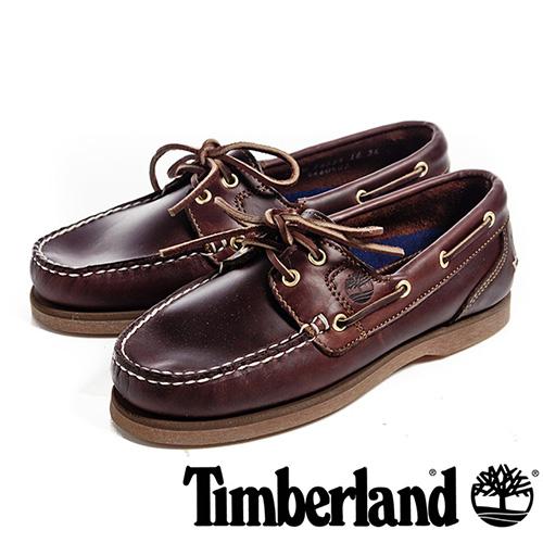 【福利網獨享】 Timberland Amherst經典帆船鞋女鞋-咖