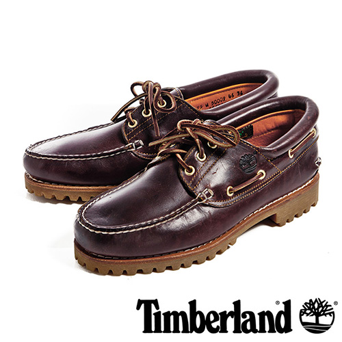 【福利網獨享】 Timberland 3孔經典雷根鞋男鞋-酒紅
