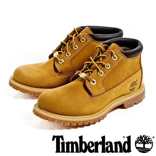 【福利網獨享】 Timberland 絨面皮革休閒防水女靴-小麥黃