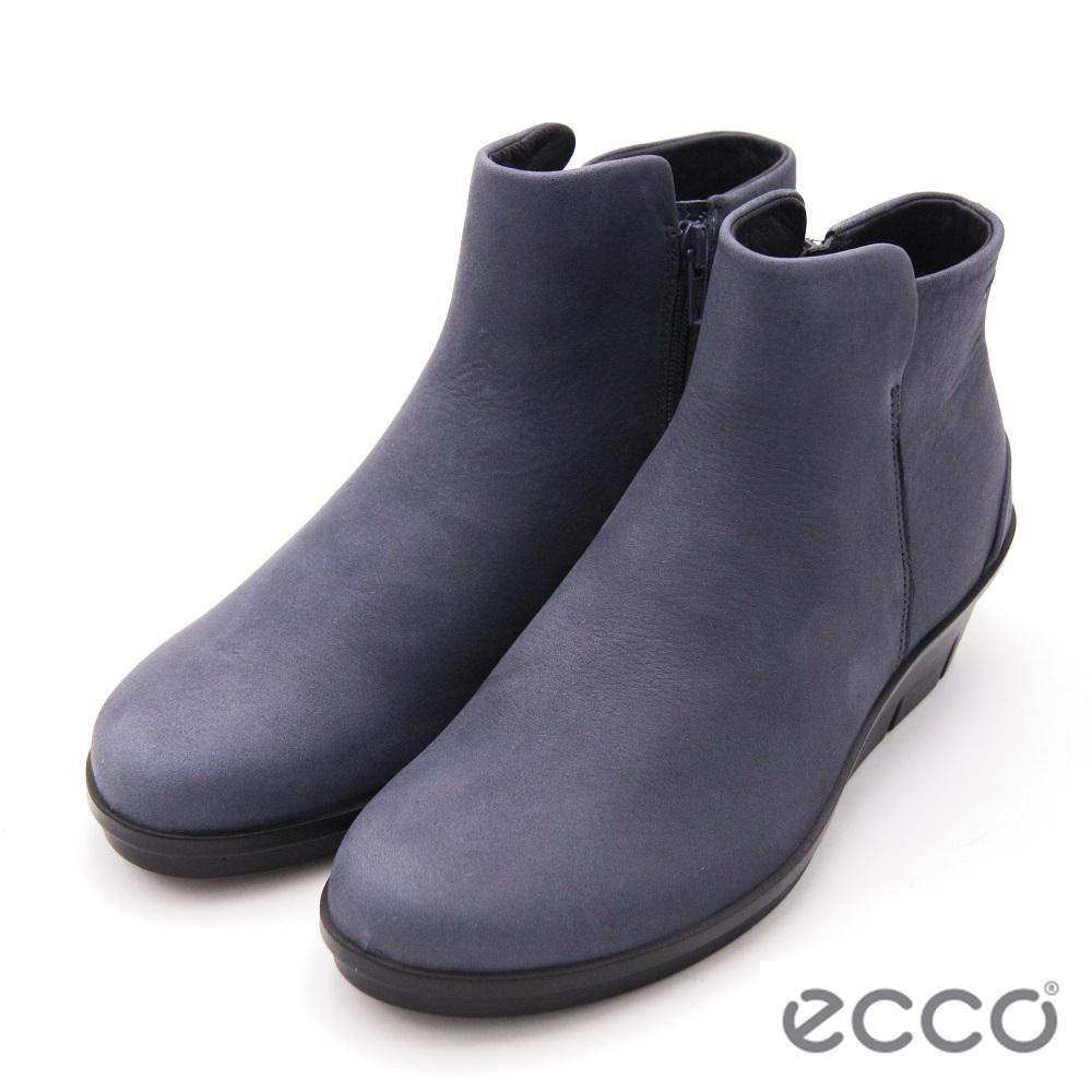 ecco SKYLER 減壓楔型踝靴 女鞋-灰(另有黑)