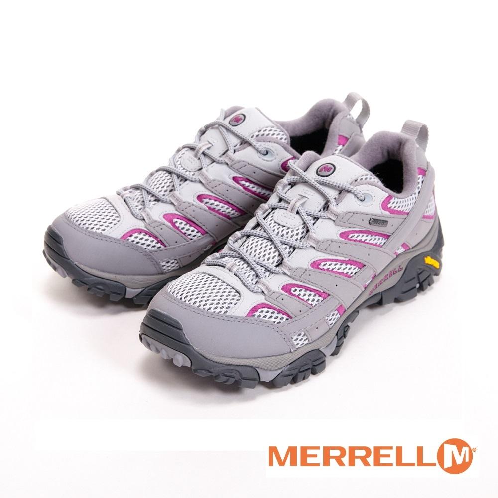 MERRELL MOAB 2 GORE-TEX防水登山運動鞋 女鞋-灰(另有復古灰、藍紫)