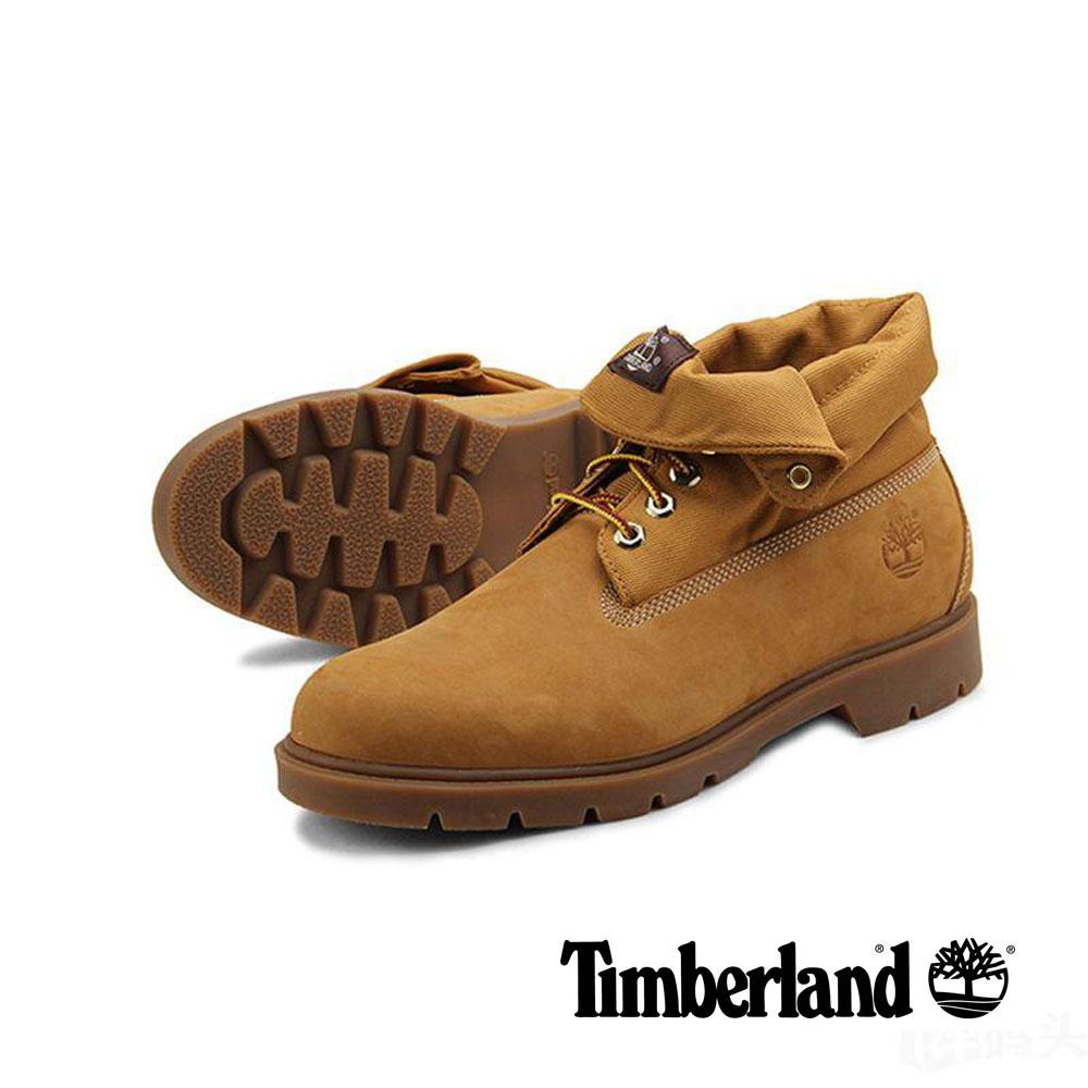 Timberland 經典拼接土黃翻靴-男款