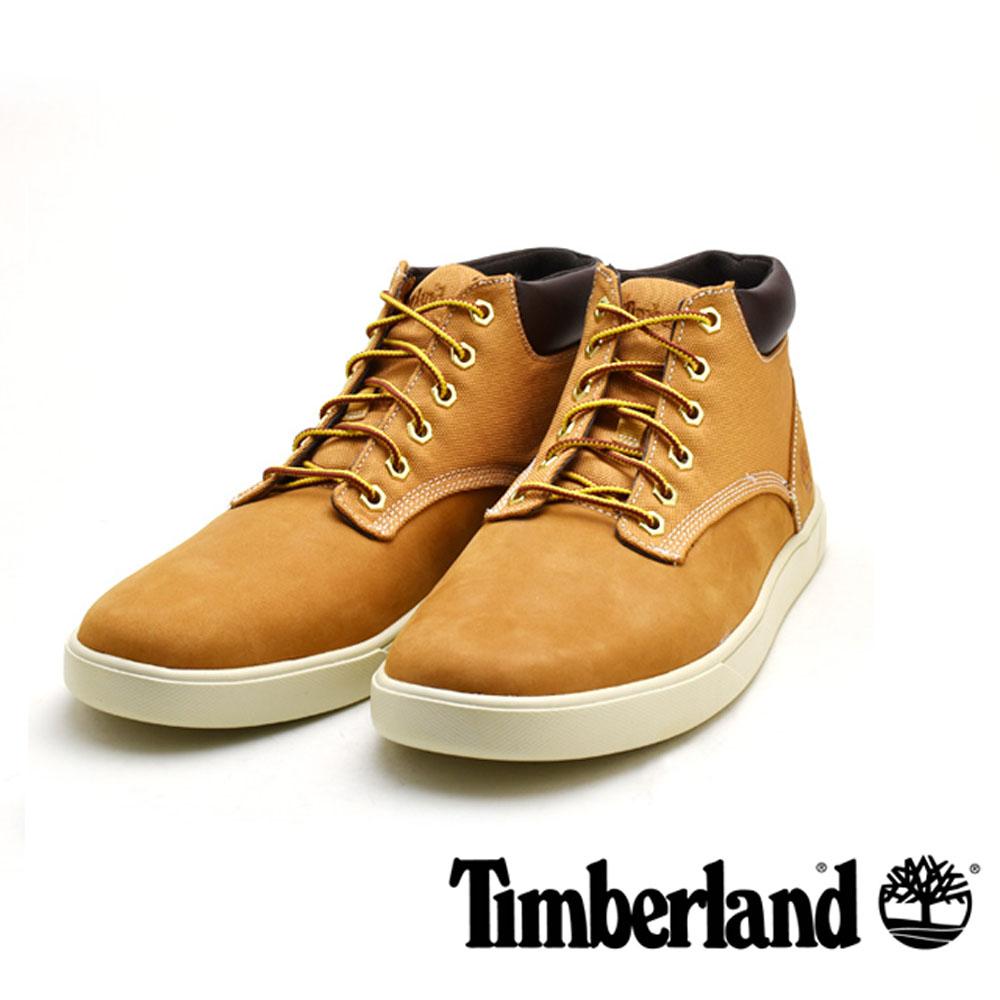 Timberland 經典高筒綁帶休閒男款-土黃