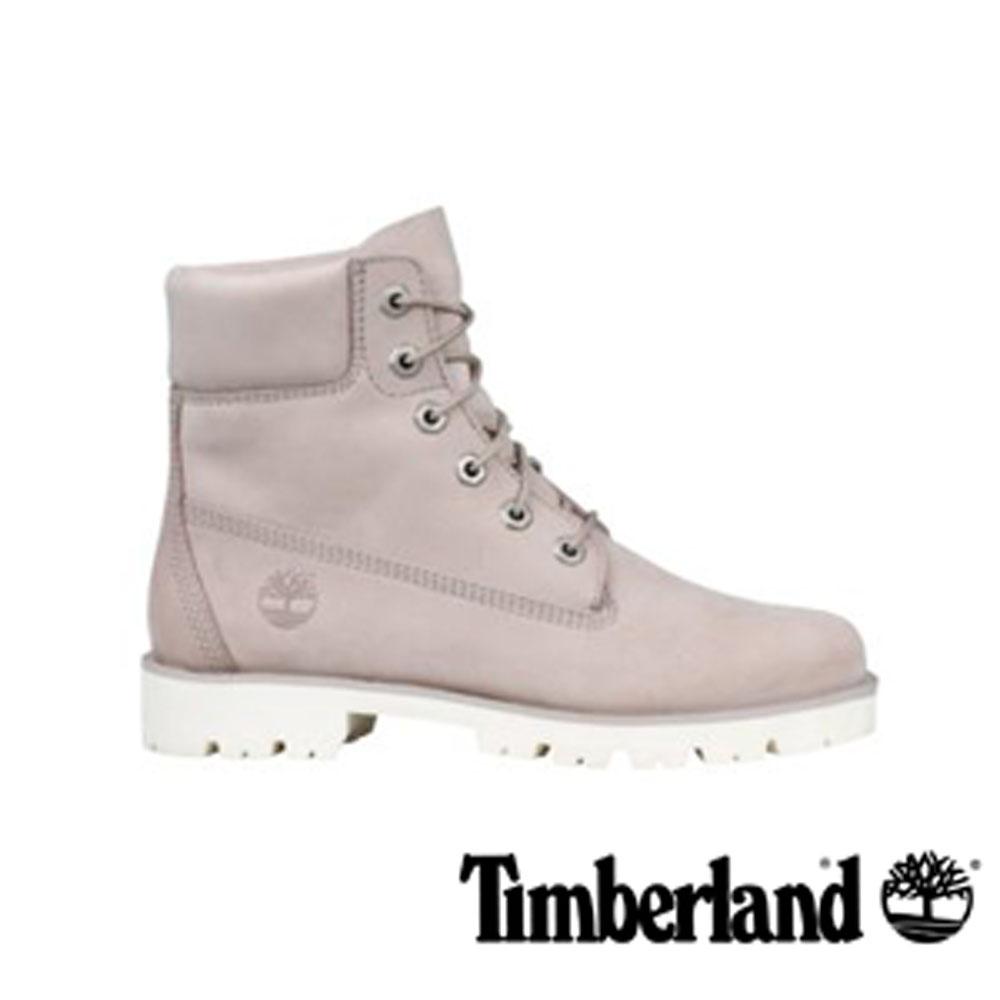 Timberland Heritage Lite 淡灰褐色正絨面皮革6 吋靴-女款