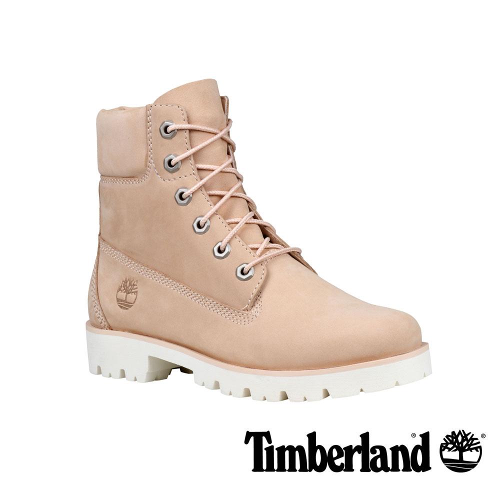 Timberland Heritage Lite 淺米色正絨面皮革6 吋靴-女款