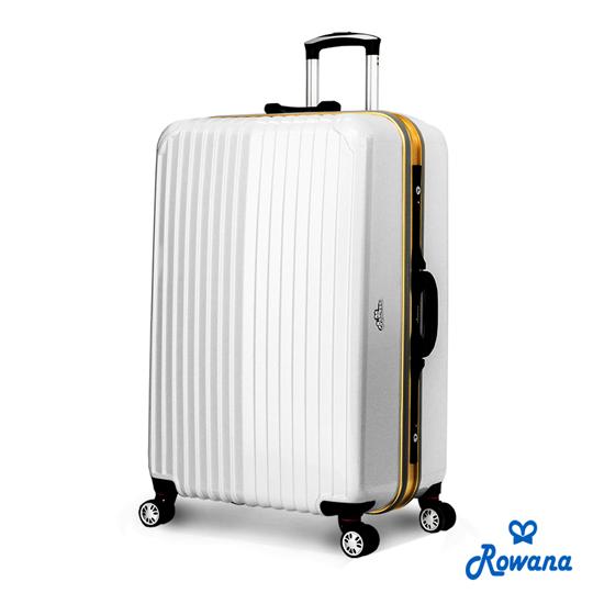 Rowana 金燦炫光PC鏡面鋁框行李箱 29吋(典雅白)