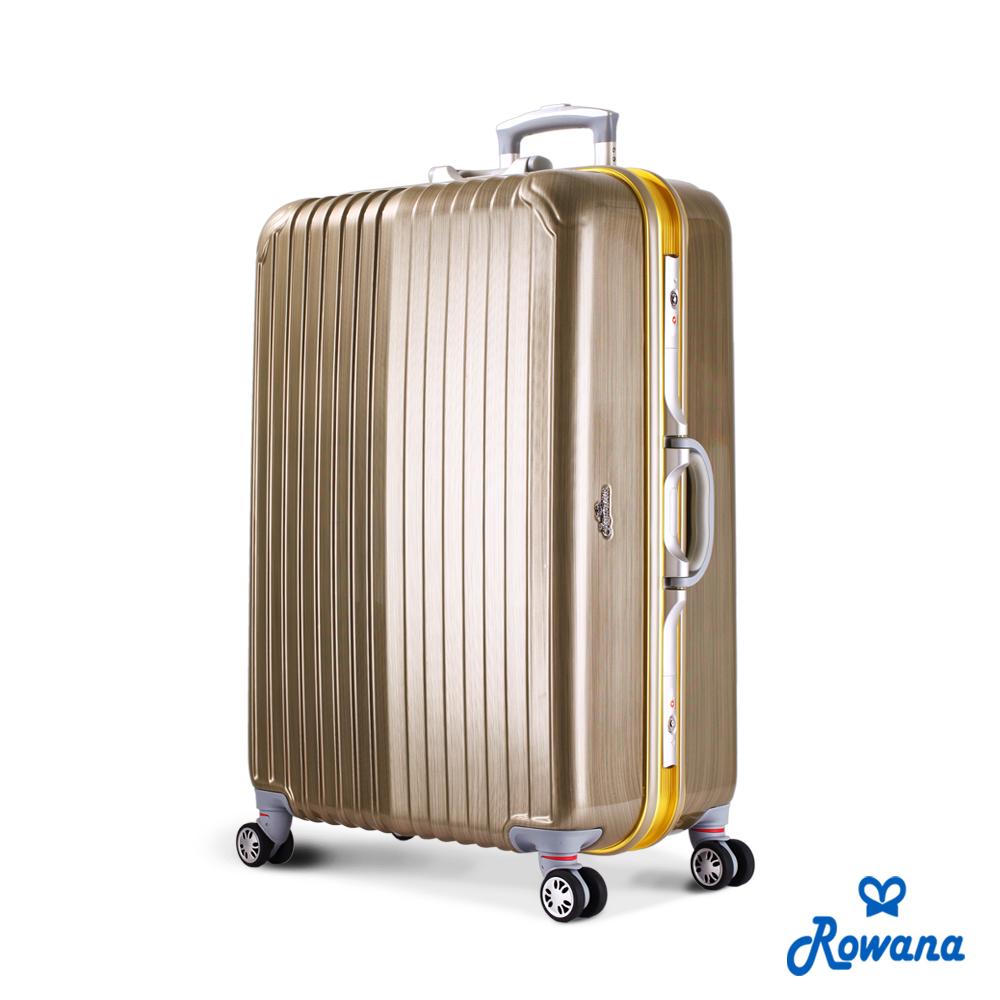 Rowana 金燦炫光PC鏡面鋁框行李箱 29吋(香檳金)