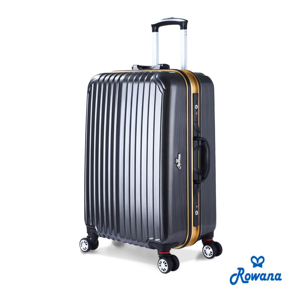 Rowana 金燦炫光PC鏡面鋁框行李箱 25吋(星耀灰)