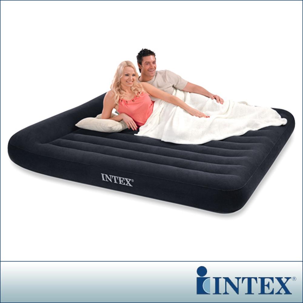 INTEX《舒適型》雙人特大植絨充氣床墊(寬183cm)-有頭枕 (66770)