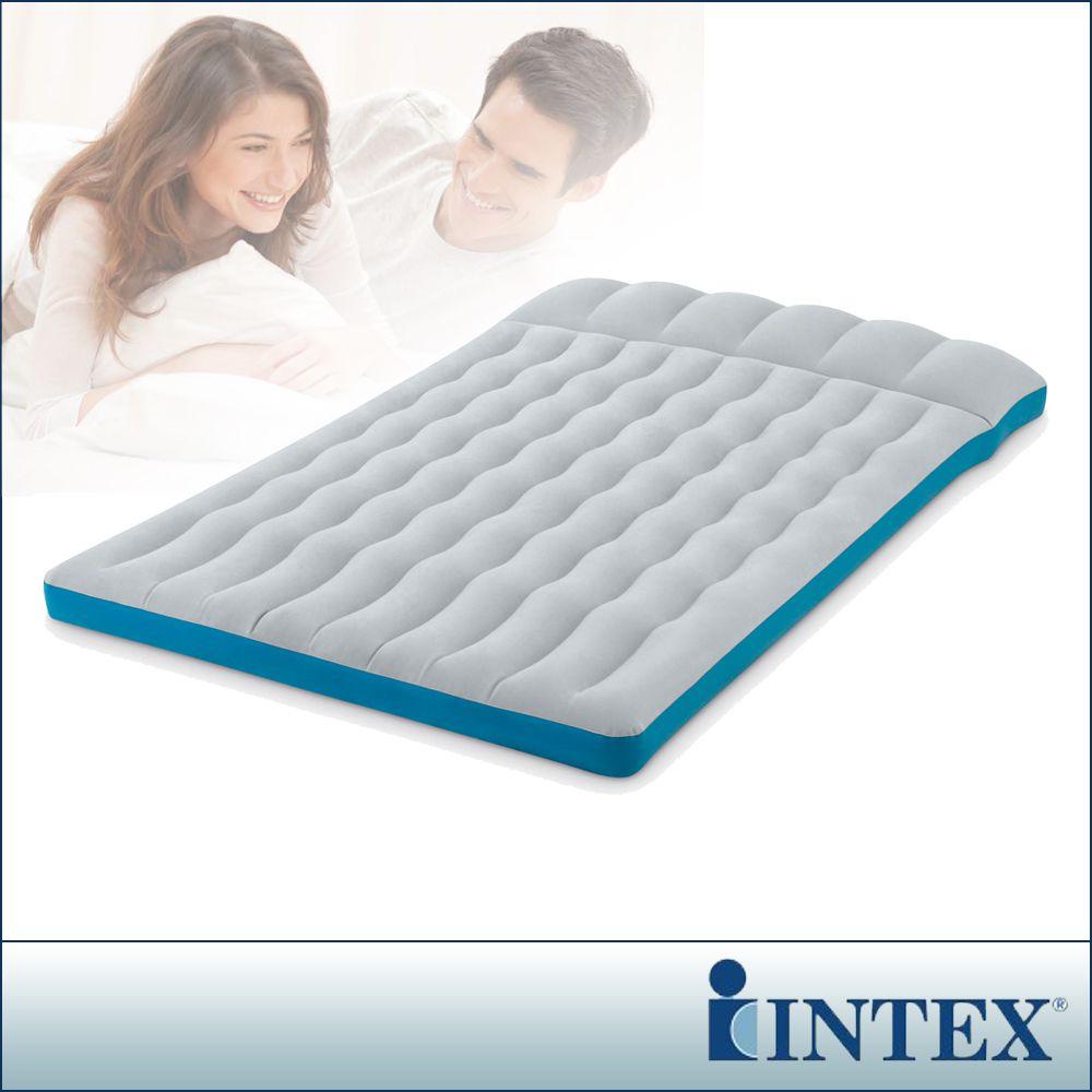 【INTEX】雙人野營充氣床墊(車中床)-寬127cm (灰藍色)(67999)