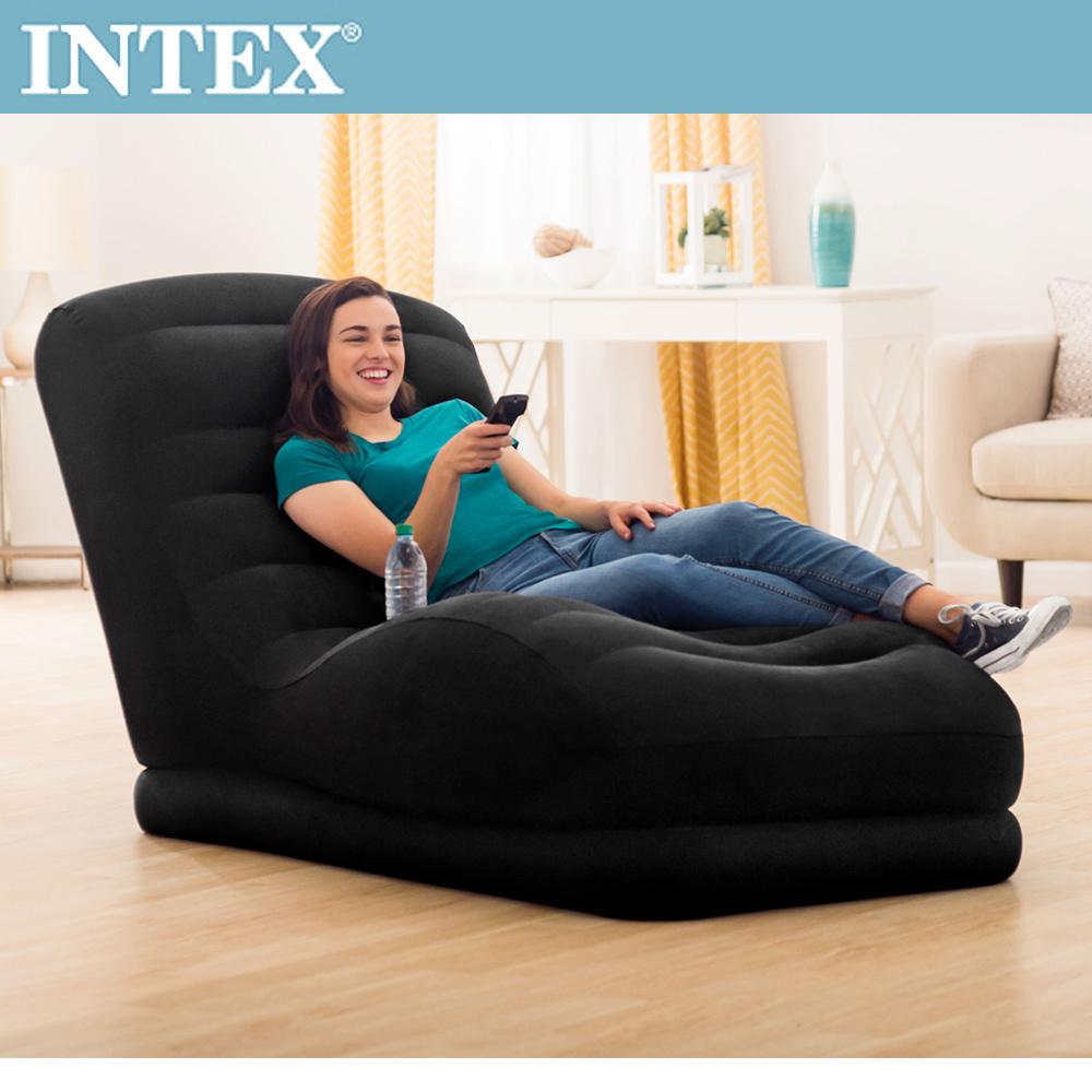 【INTEX】S曲線加長懶人充氣躺椅(68595)