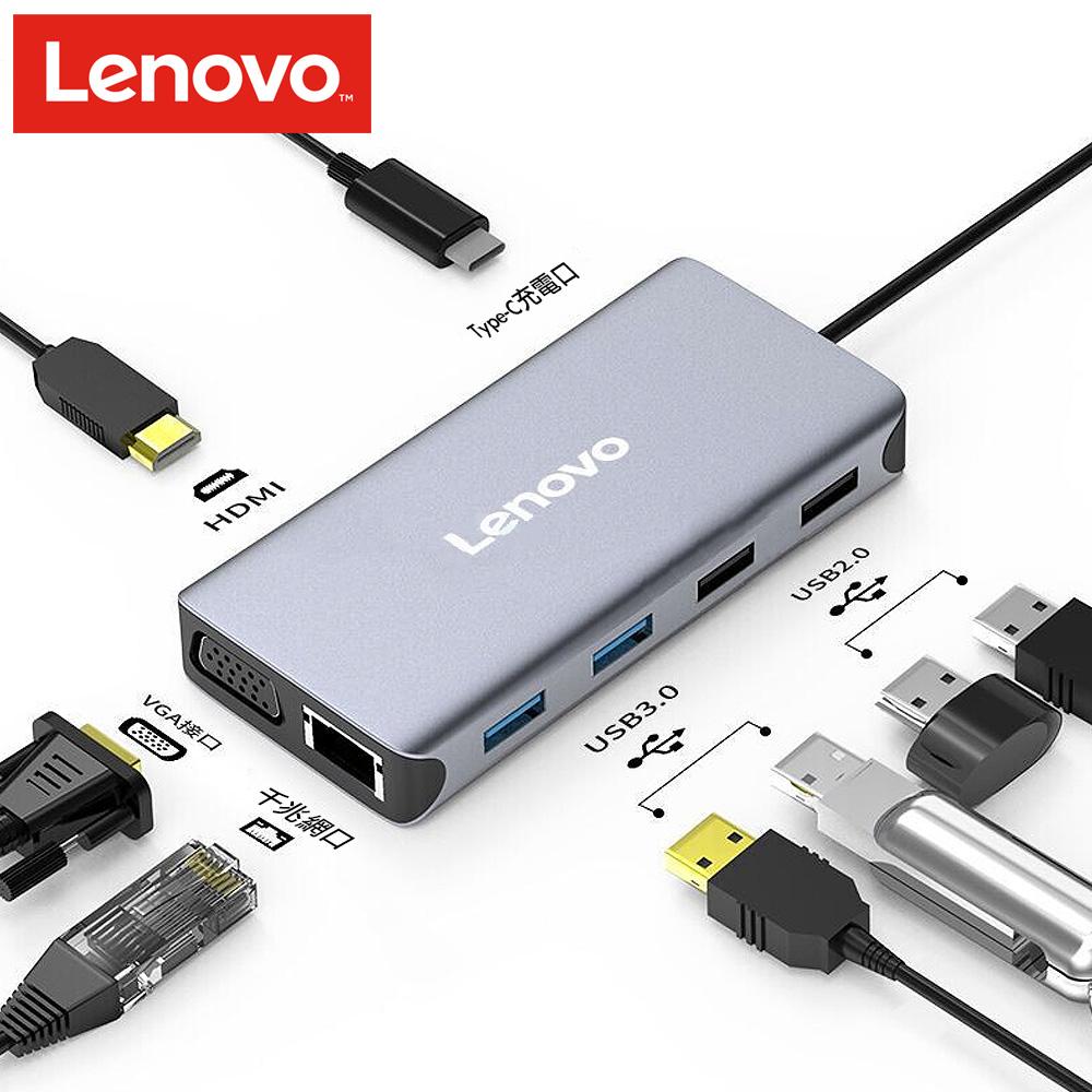 Lenovo Type-C轉VGA/RJ45/USB3.0 擴充多功能轉接器