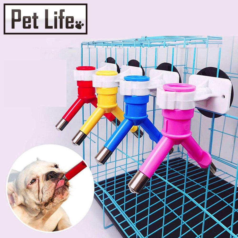 Pet Life 寵物貓狗專用不鏽鋼雙頭飲水器 紅