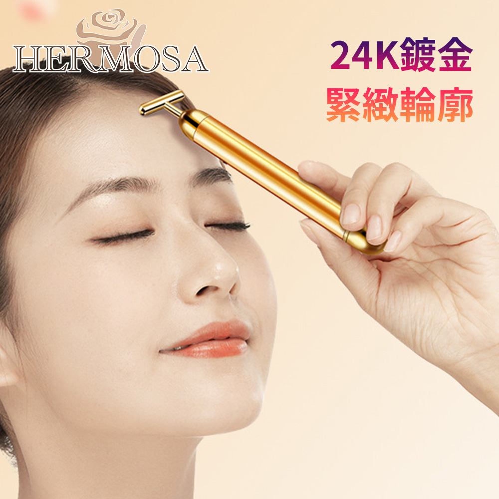 HERMOSA 專業美容T型臉部保養舒緩震動按摩儀