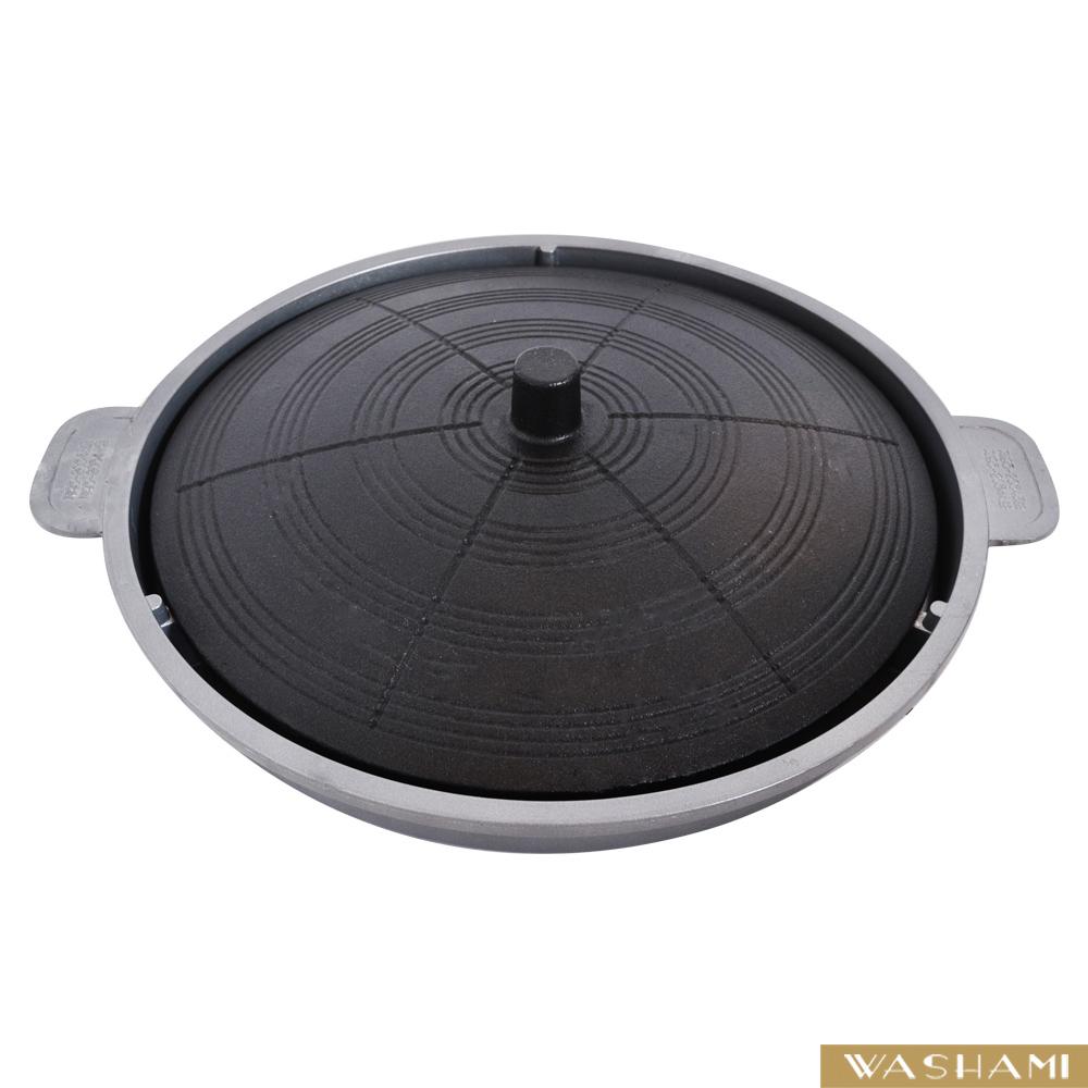 WASHAMl-鑄鐵韓式燒烤盤(烤盤+導油盤)