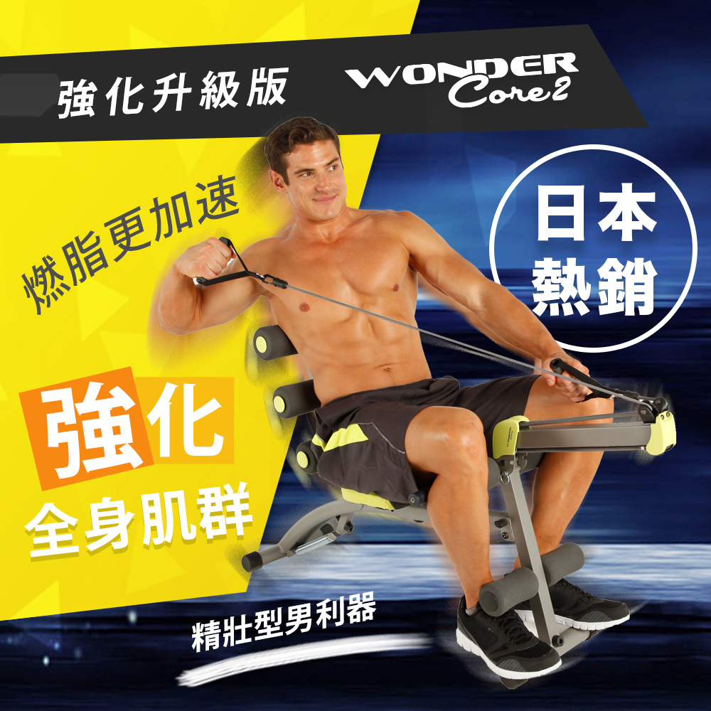 【Wonder Core 2】全能塑體健身機(強化升級版)買就送Wonder Core 運動毛巾