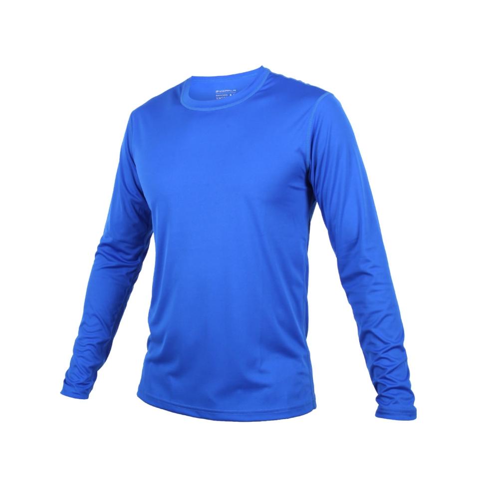HODARLA 男激膚無感長袖衣-T恤 長T 慢跑 路跑 健身 台灣製 藍@3133002@