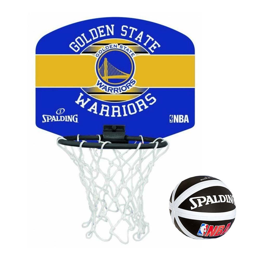 SPALDING 金州勇士隊小籃板-GOLDEN STATE WARRIORS 籃球 黃藍@SPA77661@