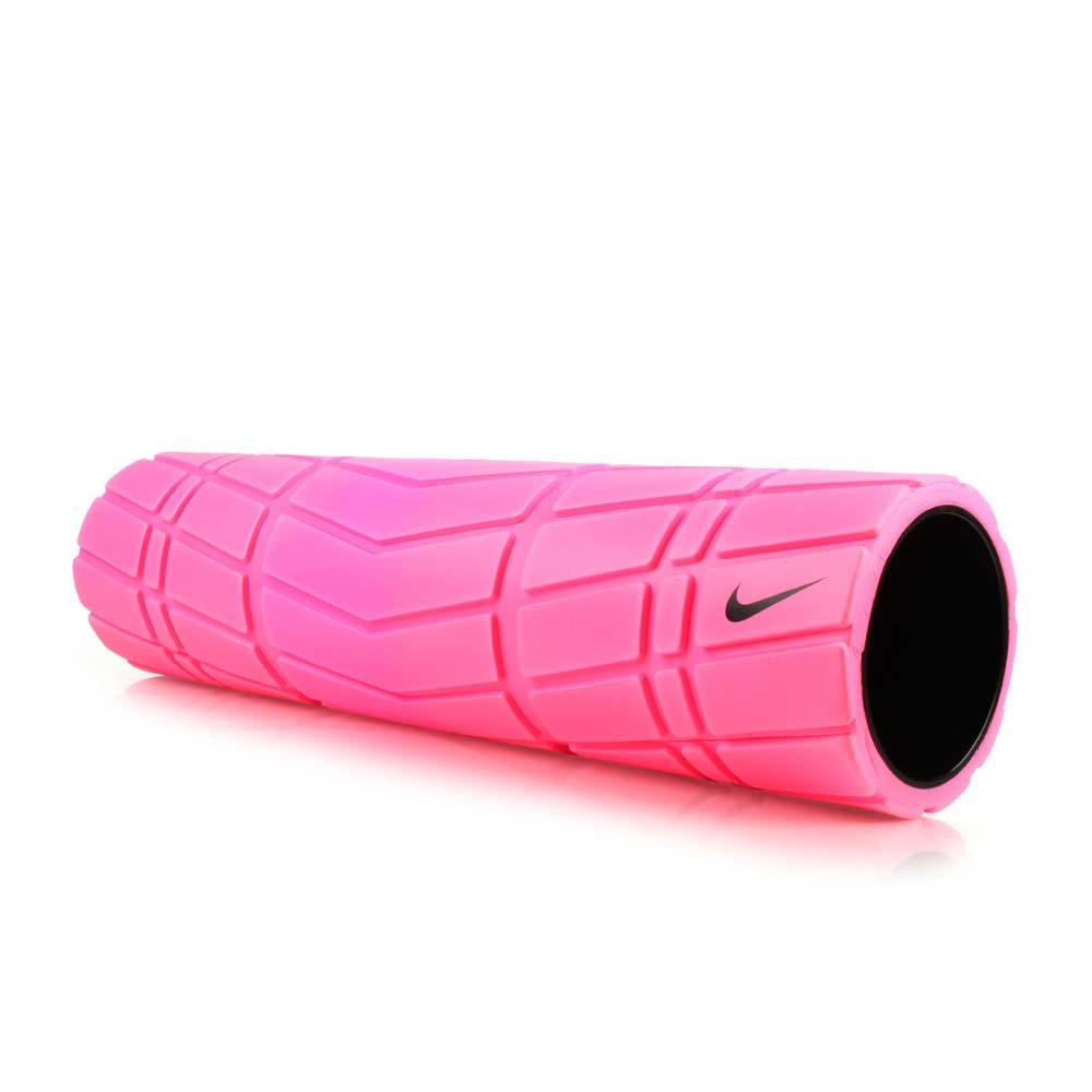 NIKE 輔助滾筒-長度20吋-瑜珈柱 瑜珈滾輪 按摩滾輪 訓練 塑身 健身 粉紅黑@NER3364520@