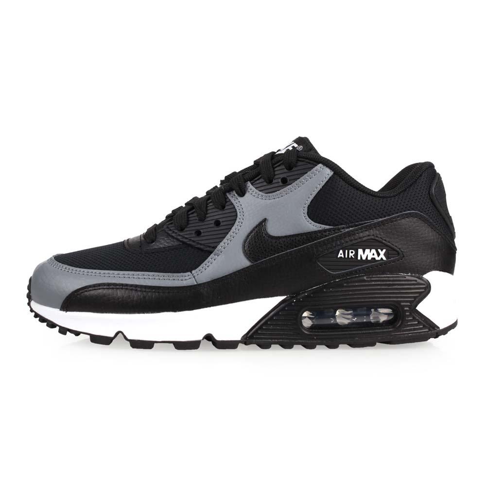 NIKE WMNS AIR MAX 90 LE 女休閒鞋-氣墊 慢跑 路跑 黑灰白@325213037@