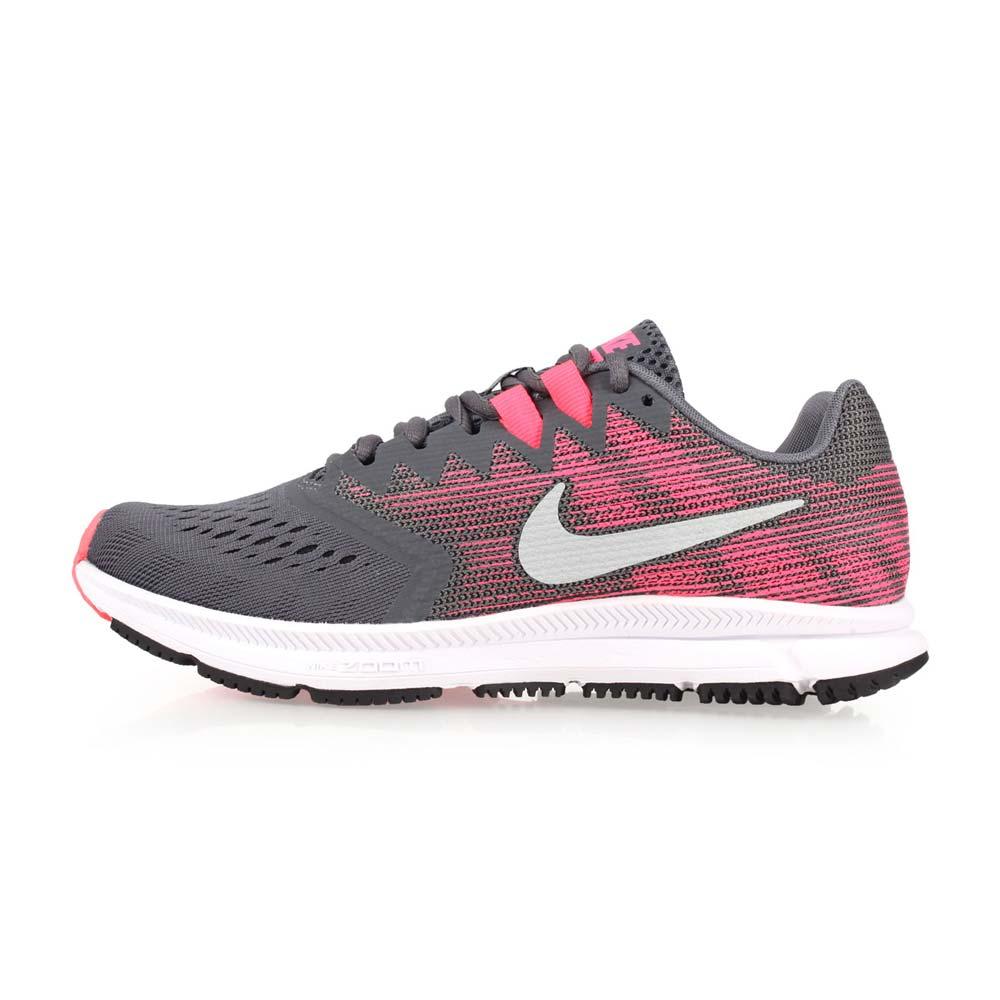 NIKE WMNS  ZOOM SPAN 2 女慢跑鞋-訓練 健身 路跑 灰粉紅@909007003@