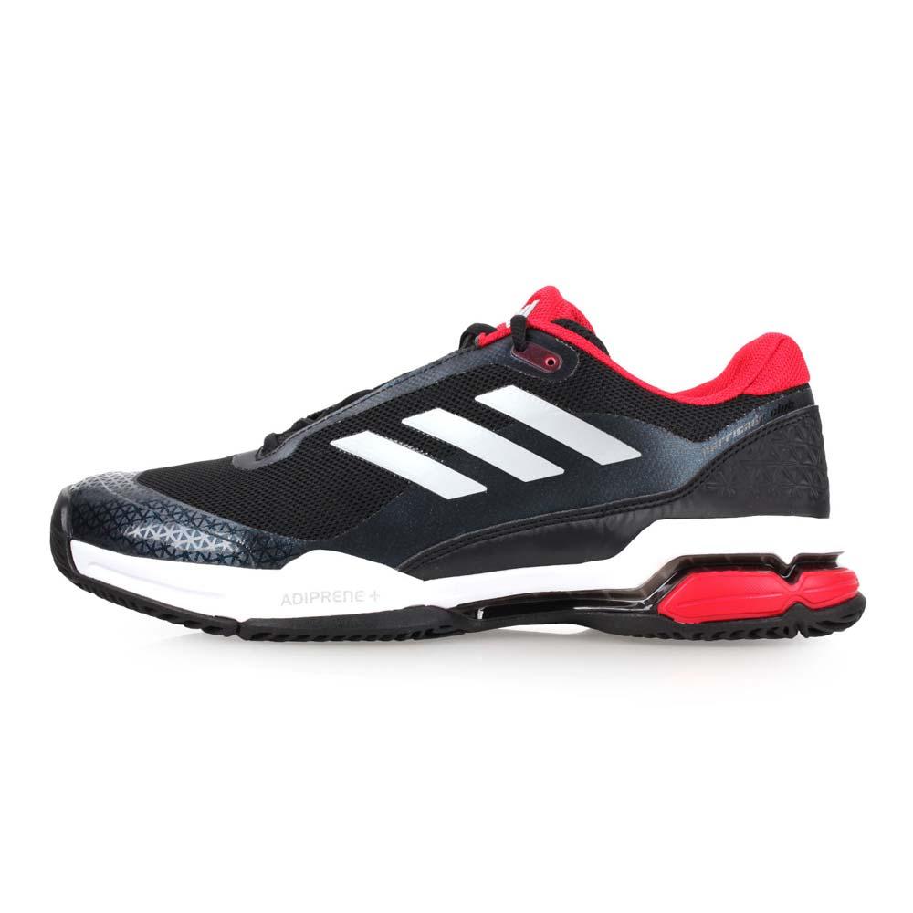 ADIDAS BARRICADE CLUB 男網球鞋-愛迪達 黑紅銀@CM7781@