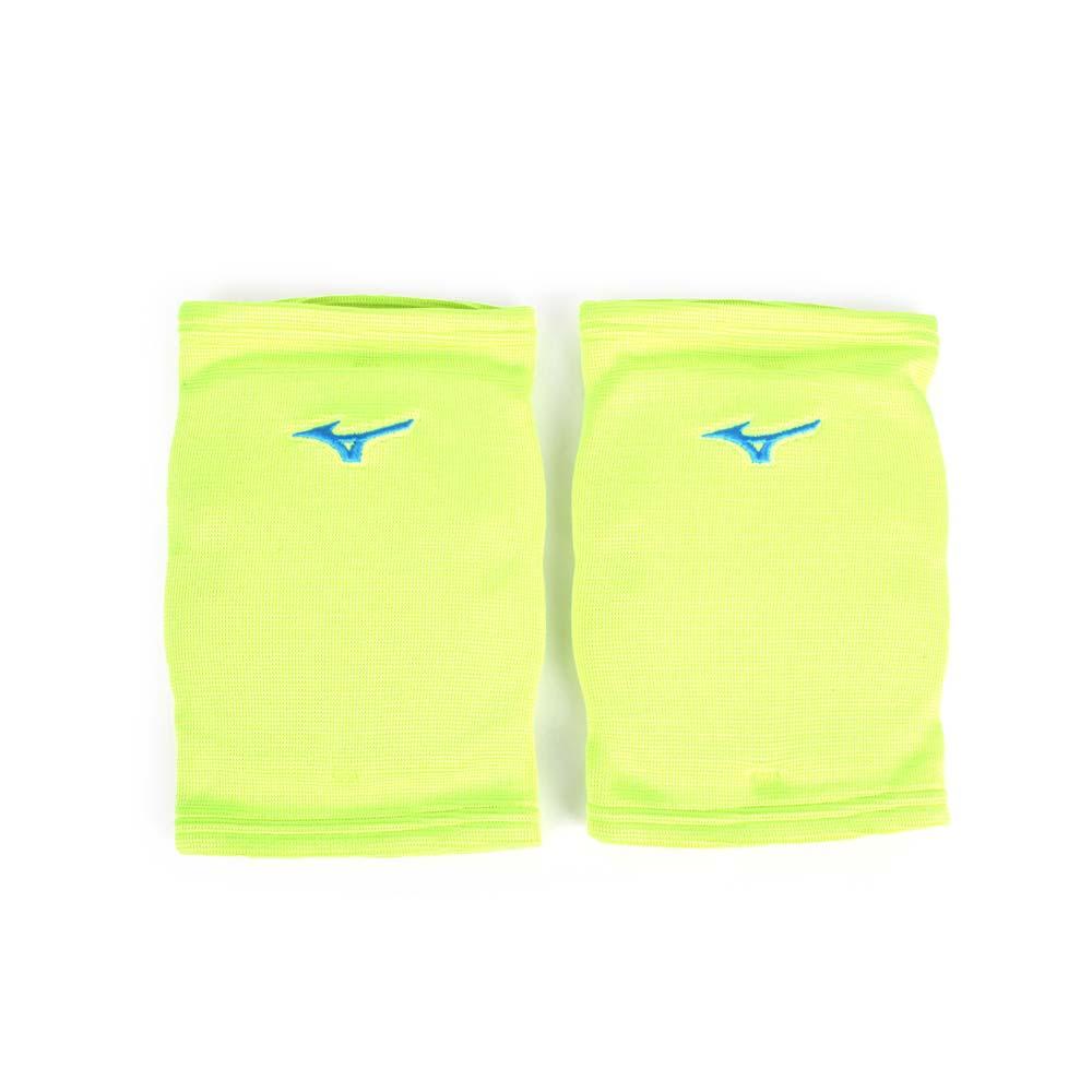 MIZUNO 成人用膝套-一雙入 防撞 配件 美津濃 螢光綠水藍@V2TY800635@