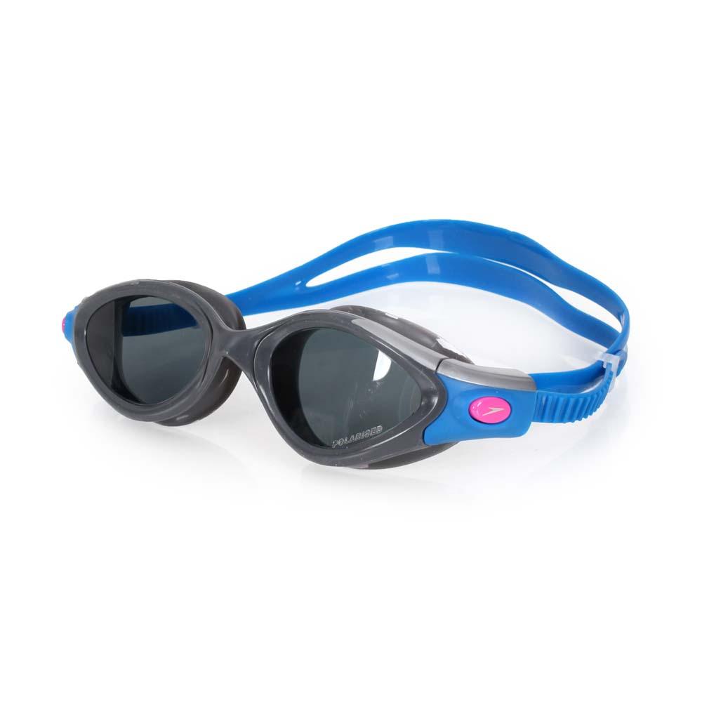 SPEEDO FUTURA BIOFUSE成人女用進階偏光泳鏡-蛙鏡 游泳 訓練 戲水 藍灰@SD810894B576@