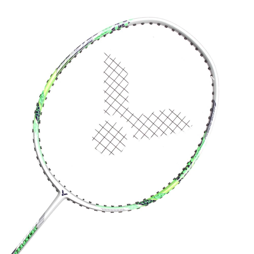 VICTOR 極速-已穿線拍-訓練 羽球毛拍 羽毛球 勝利 銀螢光綠@JS-5133@
