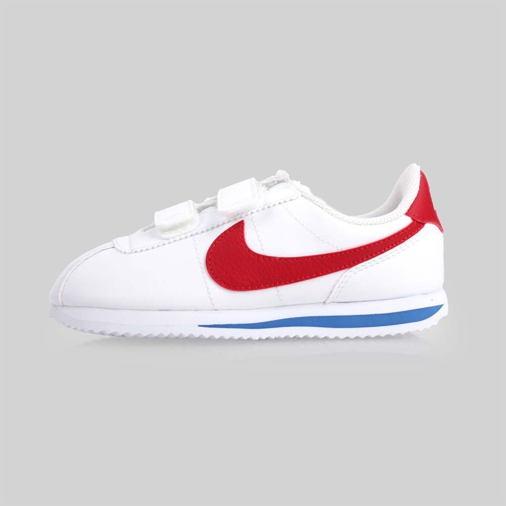 NIKE CORTEZ BASIC SL-PSV 男女童復古休閒鞋-阿甘鞋 白紅藍@904767103@