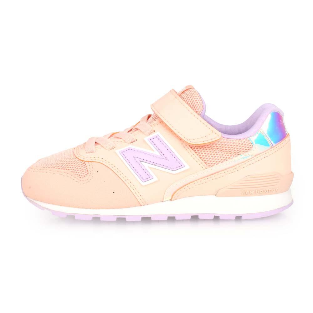 NEWBALANCE 996系列 女兒童復古慢跑鞋-WIDE-寬楦 NB 粉橘紫@YV996M2@