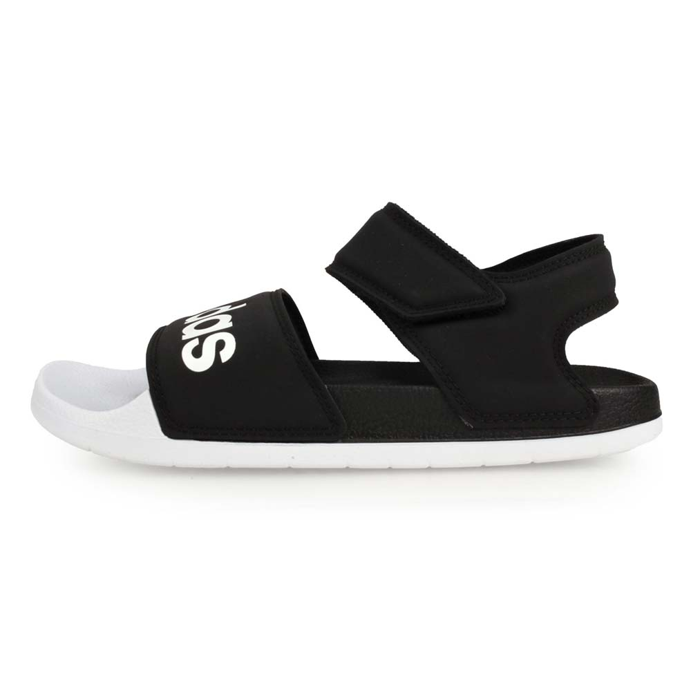ADIDAS ADILETTE SANDAL 女運動涼鞋-拖鞋 海灘 戲水 黑白@F35416@