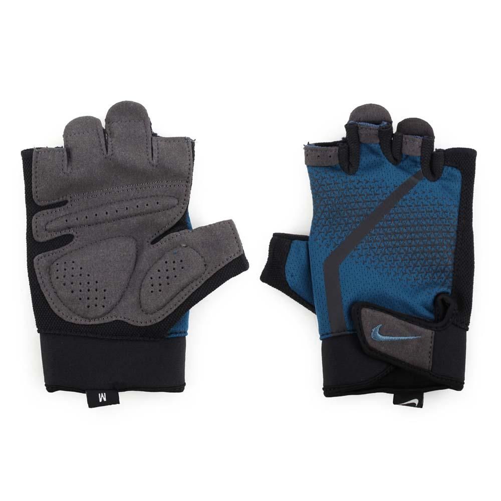 NIKE 男健身手套-重量訓練 半指手套 深藍黑@N0000004486MD@