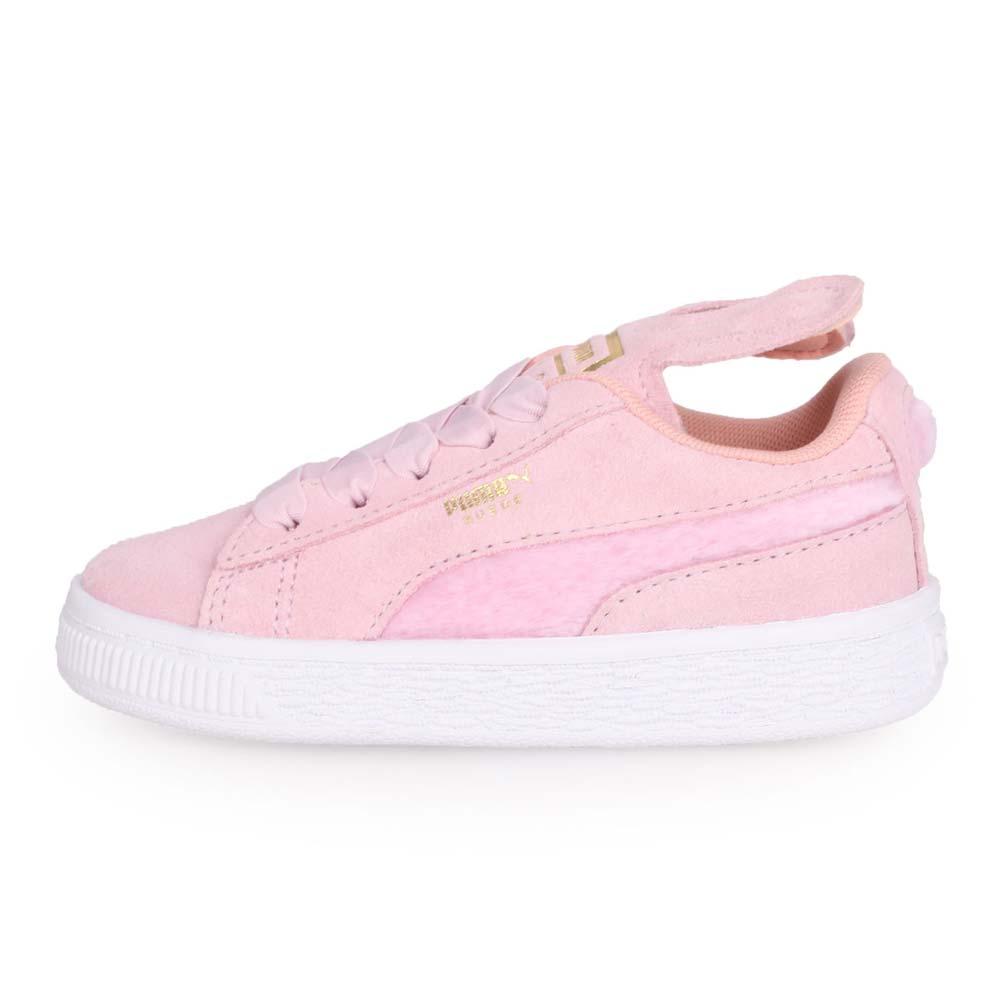 PUMA SUEDE EASTER AC INF 女小童休閒運動鞋-慢跑 童鞋 粉紅金@36894602@