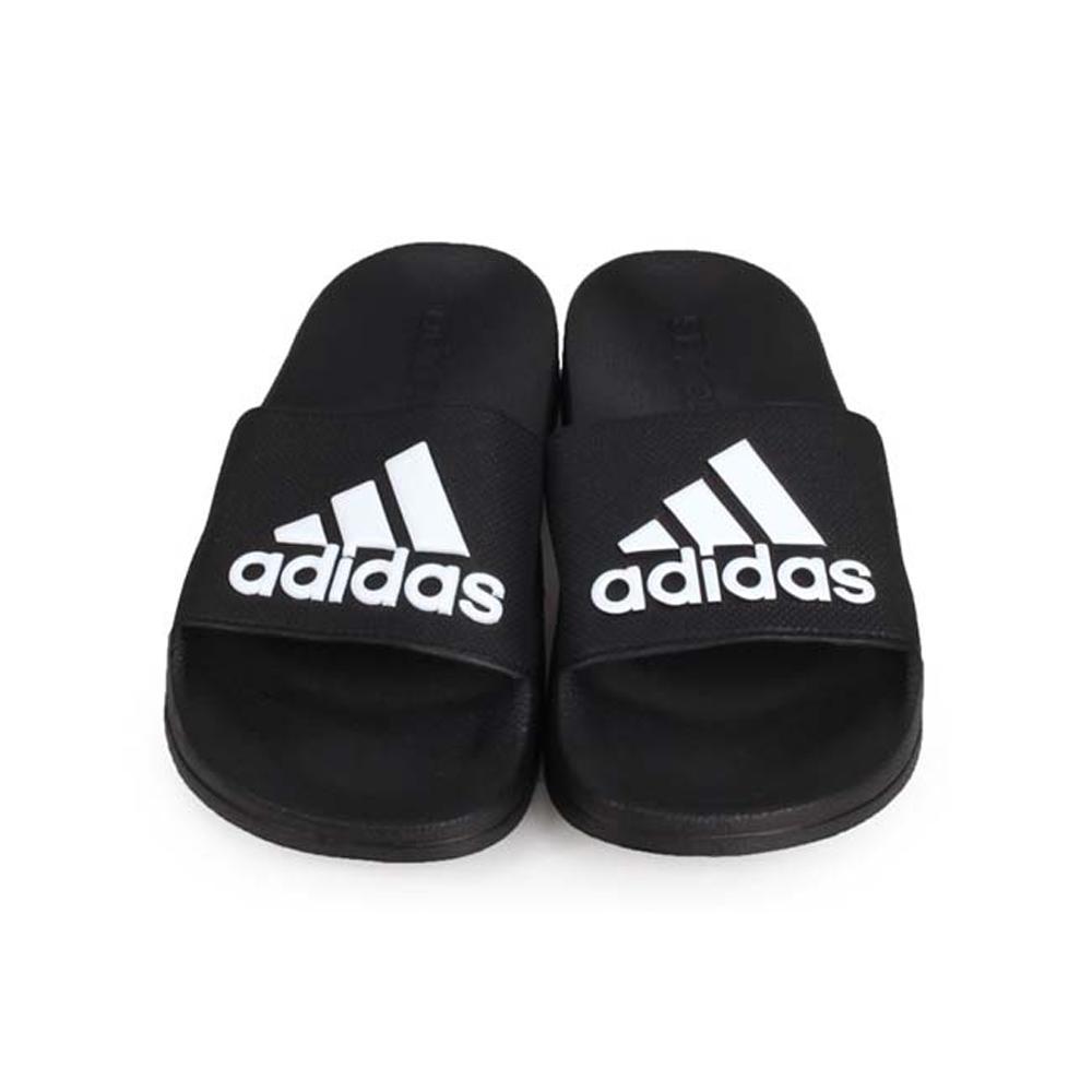 ADIDAS 男運動拖鞋-游泳 海邊 海灘 戲水 拖鞋 愛迪達 黑白@F34770@