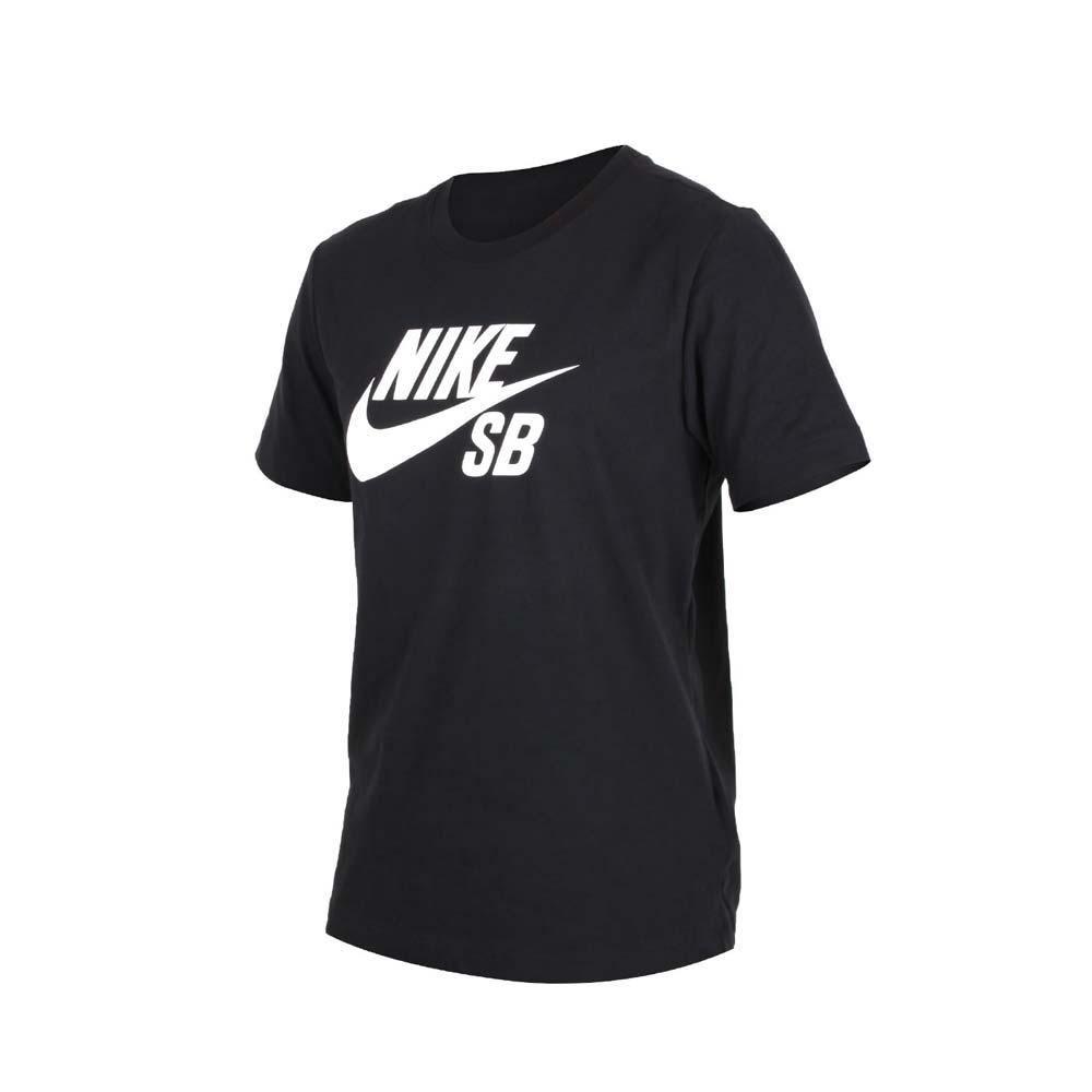 NIKE 男圓領短袖T恤-慢跑 路跑 黑白@AR4210010@