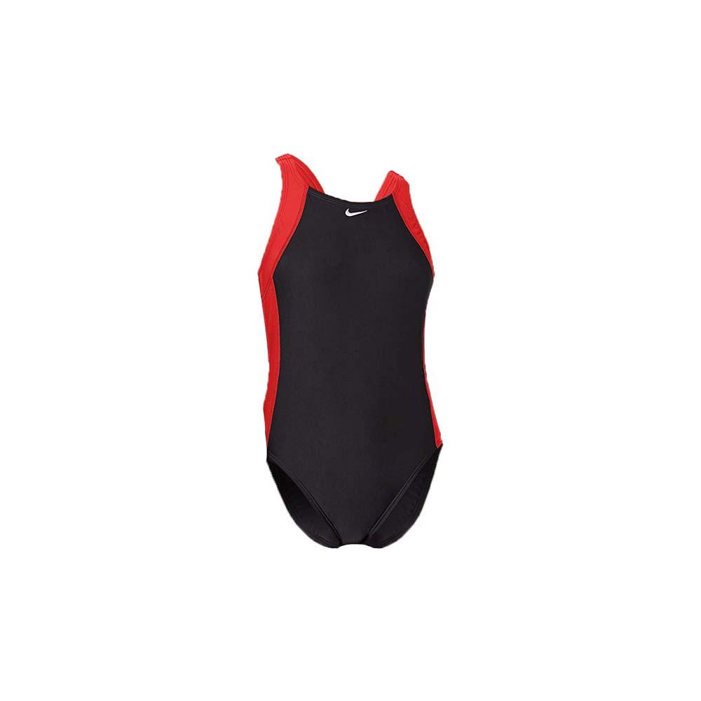 NIKE SWIM女連身泳裝-泳衣 泳裝 游泳 沙灘 戲水 黑紅白@NESS9120-614@